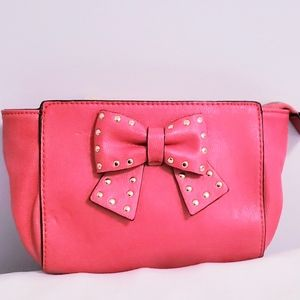 Betsey Johnson red clutch with bow clutch